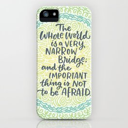 Narrow Bridge Mandala iPhone Case