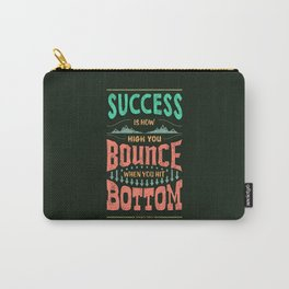 Lab No. 4 Success Is How George S. Patton Life Inspirational Quotes Carry-All Pouch