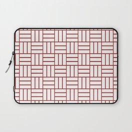 Basketweave (Maroon & White Pattern) Laptop Sleeve