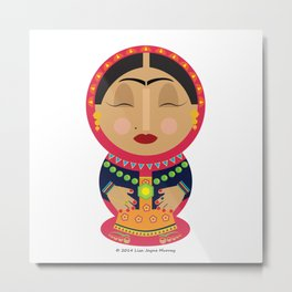 Bollywood Babushka Metal Print