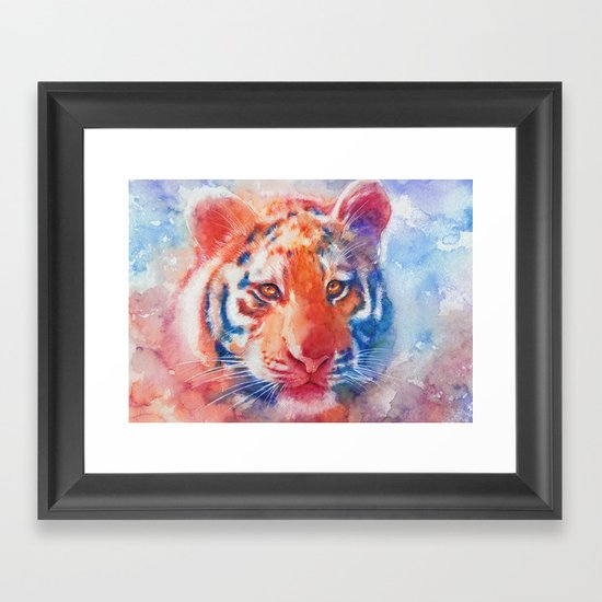 Staring into your soul Framed Art Print