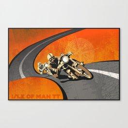 vintage Isle of Man TT motor race poster Canvas Print
