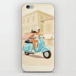 Scooter Girl iPhone Skin