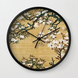 Malus Halliana And White-eye - Digital Remastered Edition Wall Clock