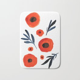 Red Poppies Specimen Bath Mat