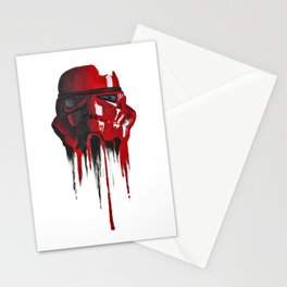 Procrastination in red 1 Stationery Cards