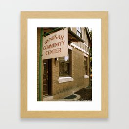 Wenonah, NJ Framed Art Print