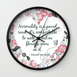 Normality Pink & Gray Wall Clock