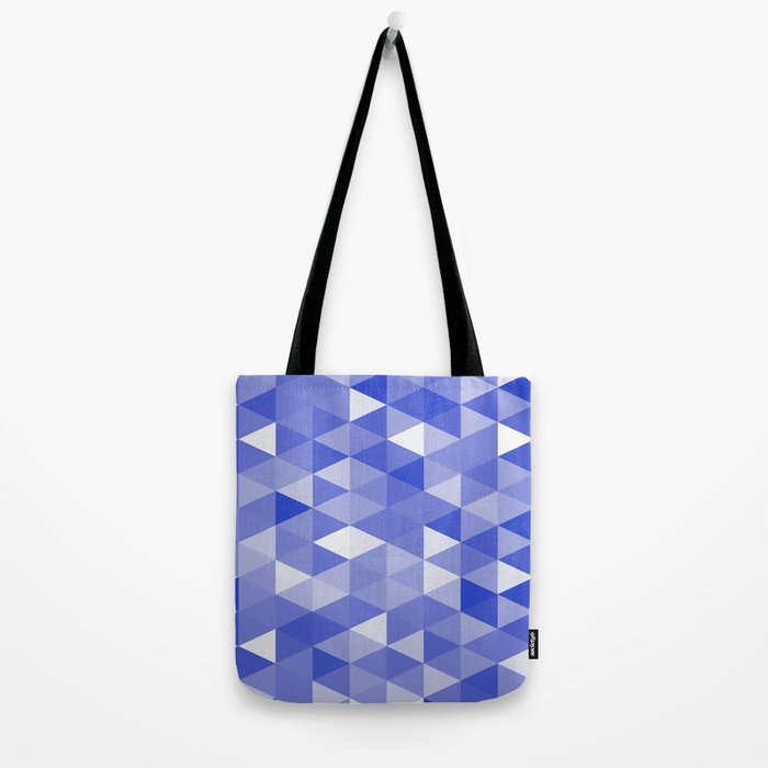 Triangles In Blue Tote Bag