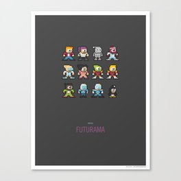 Mega Futurama Canvas Print