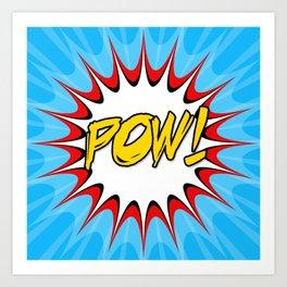 POW! Comic Book Cartoon Art Art Print
