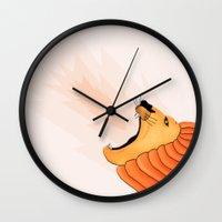 lion Wall Clocks featuring Lion by Nir P