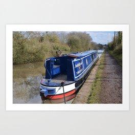 Narrowboat Indefatigable Art Print