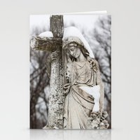 religious Stationery Cards featuring Religious Statue by Legends of Darkness Photography