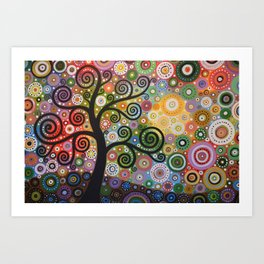 Abstract Art Landscape Original Painting ... Tree of Wishes Art Print