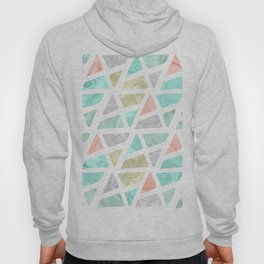 Modern geometrical abstract marble triangles pattern Hoody