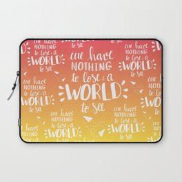 a WORLD to see - sunset palette Laptop Sleeve