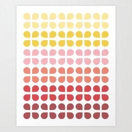 Floral Geometry Pattern Art Print
