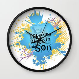 Take your place in the Son Wall Clock