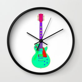 Colorful Guitar Wall Clock