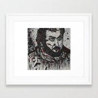 kubrick Framed Art Prints featuring Kubrick by love & nate