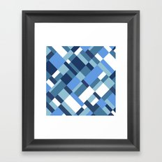Map 45 Blues Framed Art Print