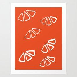 Orange Wedges Art Print