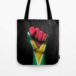 Guyanese Flag on a Raised Clenched Fist Tote Bag