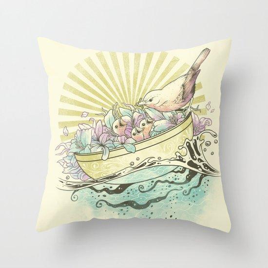 Unique Nesting Throw Pillow