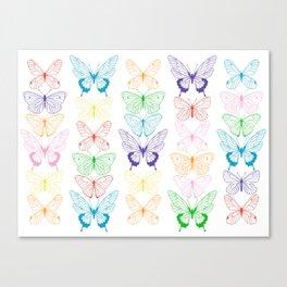 Butterfly Rainbow Canvas Print