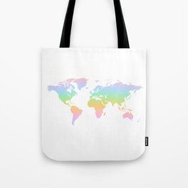 WORLD rainbow map of the world Tote Bag