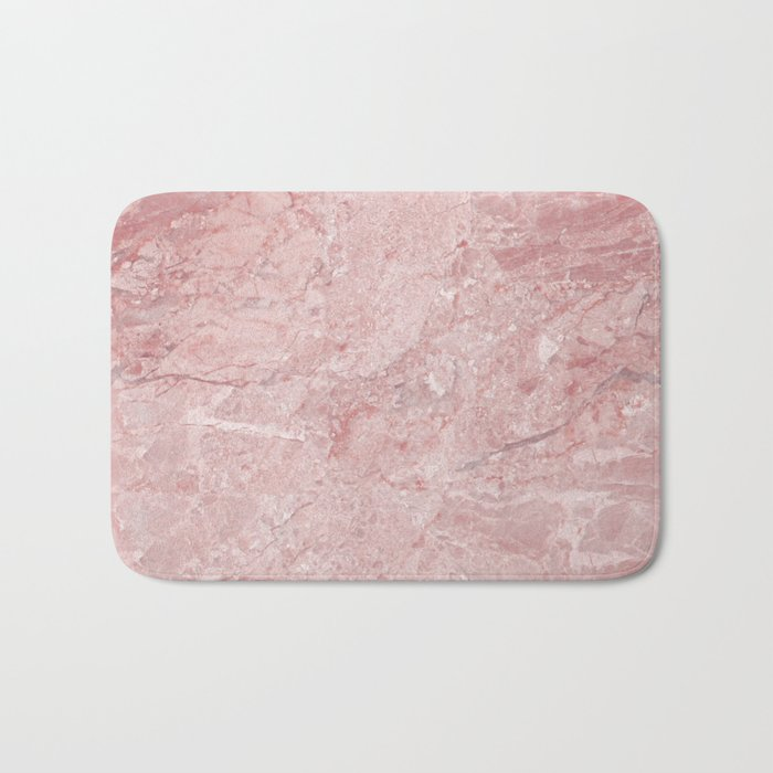 blush pink marble bath mat by naturemagick society6