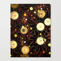 floral pattern Canvas Prints featuring Floral pattern by Klara Acel