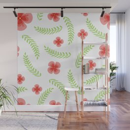 Happy floral pattern Wall Mural