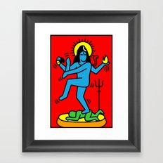 Shiva Keith Haring Tribute Framed Art Print