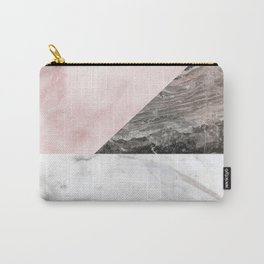 Smokey marble blend - pink and grey stone Carry-All Pouch
