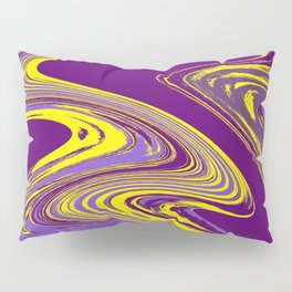 Purple and Yellow Fluid Painting Pillow Sham