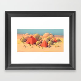 All Seeing Monolith Framed Art Print