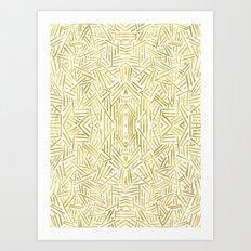 Radiate - Gold Art Print