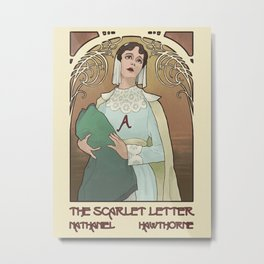 Mock Cover - The Scarlet Letter Metal Print