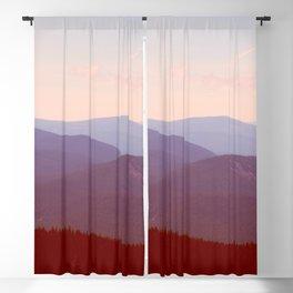 Earthscape Landscape Photography Parallax Pastel Mountains Blue Hues Blackout Curtain