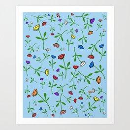 Colorful Flower Toss Art Print