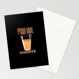 Funny Chai Hindi Quote Stationery Cards