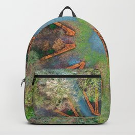Natural clock green Backpack