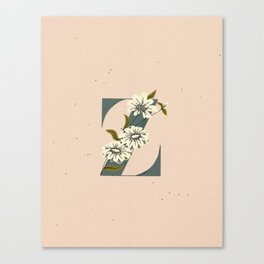Z for Zinnia Canvas Print