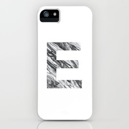 The Letter E- Stone Texture iPhone Case