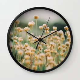 Vintage Chamomile Wildflowers Wall Clock