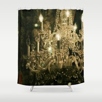 chandelier Shower Curtains featuring New Orleans Chandelier by Briole Photography