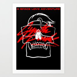 A Space Love Adventure - SYNTH PUNK Art Print