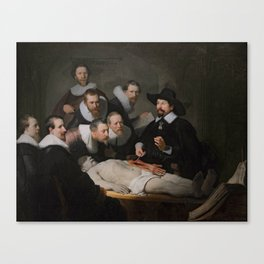 Anatomy Lesson of Dr. Nicolaes Tulp-Rembrandt Canvas Print